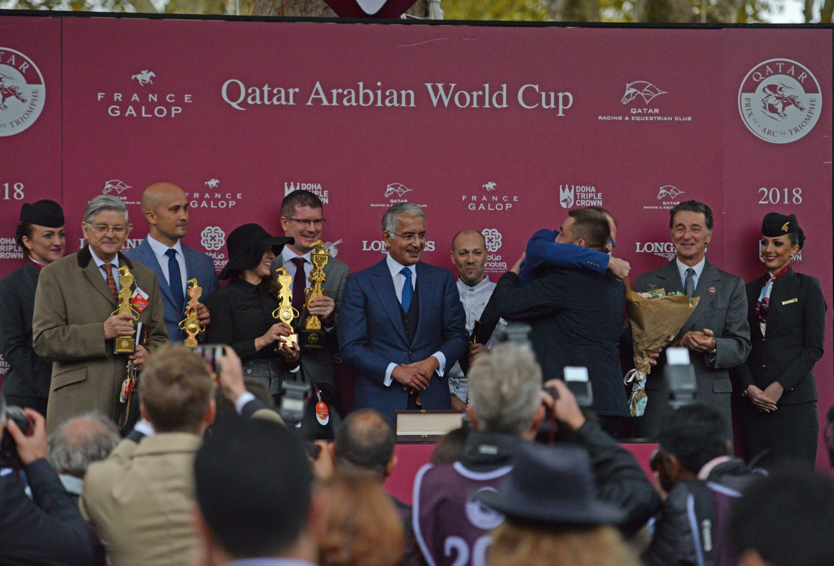 A Haras de Gouffern-bred on the top of the podium on the Qatar Prix